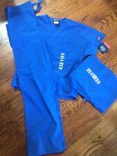 *New-w-Tags*Cherokee Scrubs*Unisex Size Xxs*3 Piece Set*1 Top & 2 Pants-Blue