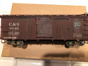Hon3 C&S Wood Box Car 8346 Built