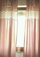 Cortinas y visillos color principal rosa dormitorio 100% algodón