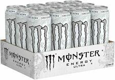 Monster Ultra White, Zero Sugar, Energy Drink 500ml x 12 Cans