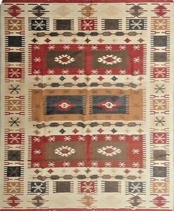 Afghan Tribal Kilim Hand woven Carpet Pure Wool Kelim Area Rug 5'x8'