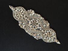 Rhinestone Applique-Wedding Trim- Baby Headband - Dance Costume DIY - USA SELLER