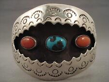 Bisbee Turquoise Silver Bracelet Museum Huge Vintage Navajo