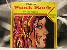 THE VACANTS - ( THIS IS ) PUNK ROCK LP VERY GOOD+ ITA OG PRESSING 1977