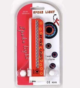Bike Wheel Lights, LED Waterproof Bicycle Spoke Tire Light with 32-LED