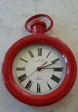jolie pendule horloge forme montre gousset marque JR diamètre 20 cm fonctionne