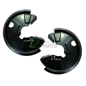 LAND ROVER DEFENDER & DISCOVERY 1 NEW REAR BRAKE DISC BACK PLATES MUD SHIELDS X2