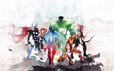 Superhero Avengers - Marvel Paint Splash Painting Large Poster & Canvas Pictures