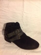 Office Girl Black Ankle Suede Boots Size 37