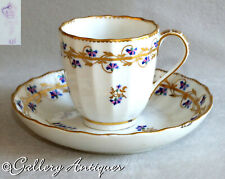 Antique Late 18thC Derby Porcelain Cup & Saucer Pattern 111 c.1790s Puce Mark
