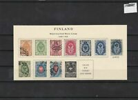finland 1891 mounted mint +used   stamps  ref 7301