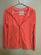 Victoria Secret Womens Coral Lightweight Hooded Sweat jacket Full-zip Size S