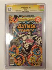 Detective Comics #482 SIGNED X3! (DC 1979) CGCSS 6.0FN Milgrom, Starlin, Golden!