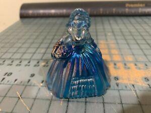 Boyd Boyd's Art Glass #9 Cobalt Carnival Elizabeth Doll Colonial Girl Figurine