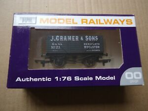 DAPOL OO GAUGE LIMITED EDITION WESSEX WAGONS J CRAMER & SONS COAL PLANK WAGON