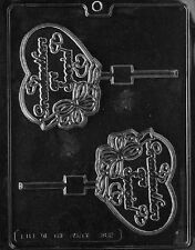 D082 Grandmother Lolly Lollipop Chocolate Candy Soap Mold with Instructions