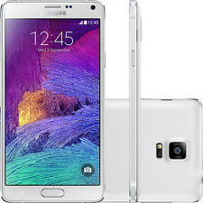 "White 5.7"" Samsung Galaxy Note4 Unlocked N910T 32GB 4G LTE 16MP GPS Mobilephone"