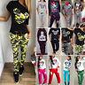 Damen Mickey Mouse Trainingsanzug Jogginghose Pullover Top + Hose Sport Anzug DE
