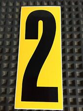 Go Kart - Number #2 - Yellow Background - Large - NEW