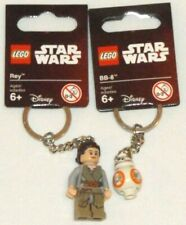LEGO 853603 Rey BB-8 853604 BB8 key chains Star Wars jedi droid keychains lot