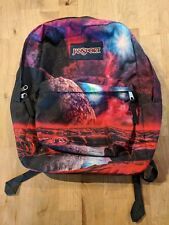 Jansport Superbreak Backpack Cosmic Space Galaxy Print Purple 90s Outrun
