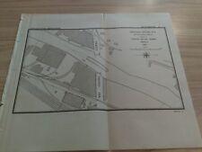 1897 Chicago River Channel Through Draws  22nd St. Bridge  Illinois Diagram Map