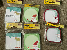 Lot Of 6 Holiday Christmas 3m Post It Notes 29 X 28 Santa Reindeer Snowman
