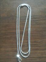 """Snake Chain Necklace 🌞 925 silver 💕  30"""" extra long with FREE gift bag 💖"""