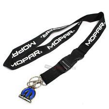 Mopar Logo Black/White Lanyard and Key Chain Ring Holder for around neck