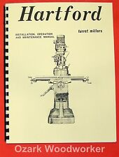 Hartford Vertical Milling Machine Instructions & Parts Manual 0940