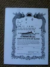 Black Belt Fitness CenterTaekwondo Keub Certificate