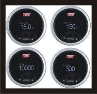 4 in 1 52mm Digital OBD2 Speedometer +RPM+Water Temp +Volt Meter Gauge WHITE LED