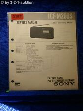 Sony Service Manual ICF M200S PLL Synthesized Receiver (#3193)