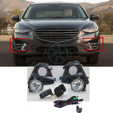 Bumper Bezels Fog Lights Driving Lamp w/ Wiring Switch For Mazda CX-5 2013-2016