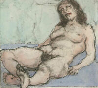 Ronald Olley (b.1923) - Signed c. 2000 Etching, Woman Reclined
