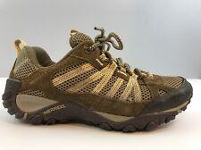 Merrell Yokota Ventilator Hiking Trail Mesh Shoes Brown & Yellow Women's Size 8