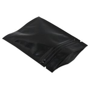 Reclosable Black Aluminum Foil for Zip Mylar Grip Seal Lock Bag Storage Sealed
