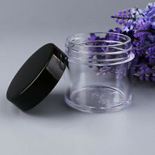 10 Pieces Clear Plastic Cosmetic Sample Container 30g Jars Pot Small Empty