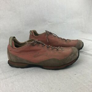 LL Bean Rust Canvas Leather Lace Up Casual Athletic Sneakers Shoes Men's 14 Wide