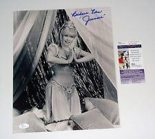 I Dream of Jeannie Barbara Eden Signed 11X14 B/W Beautiful Photo JSA JERT