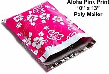 New listing (25) 10 X 13 Pink Hawaiian Aloha Flower Designer Mailers Poly Shipping Boutique
