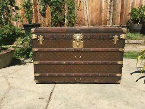 LOUIS VUITTON MALLE Monogram Steamer Trunk chest purse bag LV cabin lv