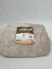 Sunbeam Velvet Plush Electric Heated Blanket Full Size 10 Heat Options