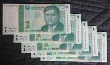 5 x Uncirculated BANKNOTES_TAJIKISTAN~ONE SOMONI_Consecutive Serial Numbers