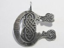 Small Sterling Silver Celtic MONOGRAM Pendant INITIAL C from Book of Kells NEW