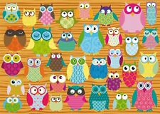 Owls: Schmidt Owl Collage 500 piece Jigsaw Puzzle 58196
