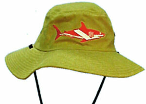 Scuba Diving Dive Hat Floppy Shark Flag Diver Safari XL AP17