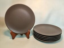 "Set Of 6 IKEA DINERA BROWN 8"" Salad/Dessert Plates"