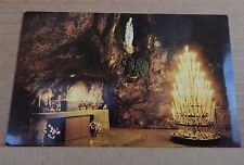 Postcard Lourdes holy Shrine France The Miraculous Grotto Candles  card unposted