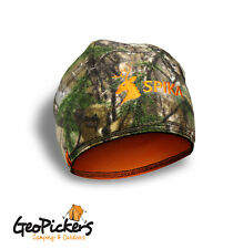 Spika Hunting Camouflage Alpine Beanie - One Size Suits Most, Camo/Orange H-303